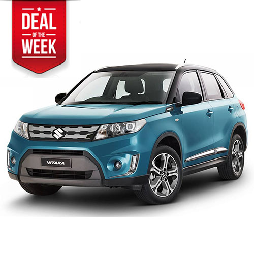 Suzuki Vitara all wheel drive car rental in city centre