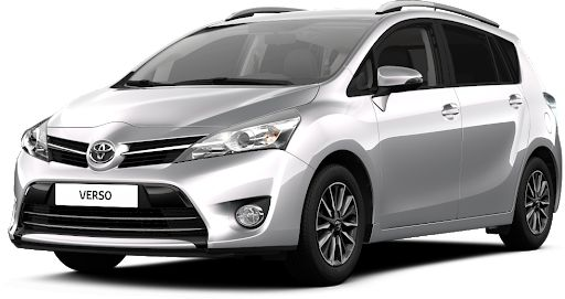 TOYOTA VERSO multivan large stationwagon hire
